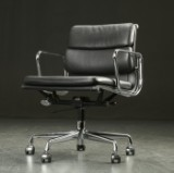 Charles Eames. Soft Pad office chair, model EA-217, black leather