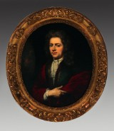 Ubekendt maler, Ovalt portræt af en adelsmand. 1700-tallet.