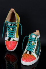Louboutin Sneakers, No Limit Flat Python, size  42. Limited edition