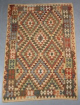 Afghansk Kelim Waziri, 222 x 145 cm