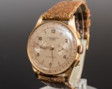 Vintage Chronographe ' Antimacnetic' 18 kt. Golduhr, 1950er Jahre