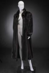 Black mink coat, size 44, labelled A.C. Bang