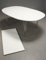 Piet Hein & Bruno Mathsson. Super Ellipse dining table with extension leaf (2)