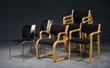 Erik Magnussen, 4 Chairik-stole, samt 6 stole af bøg (10)