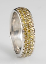 Diamond fancy colour ring approx. 0.75ct