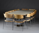 Magnus Olesen. Conference table and chairs (16)