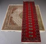 Orientalsk tæppe samt løber (2)