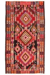 Persisk Harsin Kelim, 285 x 115 cm.