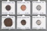 Samling Nordiske skillingsmønter 1762 - 1872 (18)