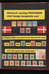 Samling Danmark postfrisk.