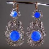 Ohrhänger mit Diamanten und Emaille