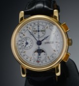 Stenstrup Juveler, men's watch, 18 karat gold with triple date, chronograph and phases of the moon