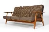 Hans J. Wegner. Three-seater sofa, 'the Cigar', model GE-240/3