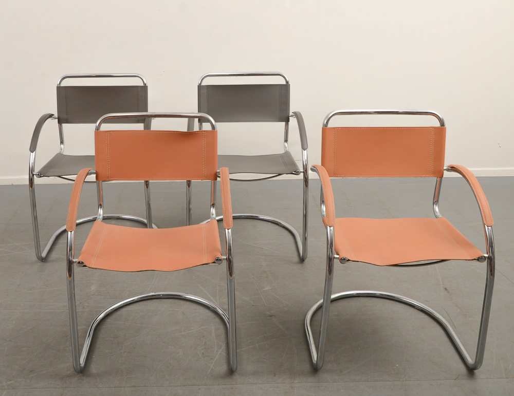 Bauhaus stol läder