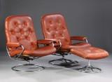 Stressless. To lænestole samt skammel. (3)