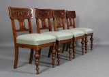 Fire stole, bøg. Start 1900 tallet. (4)