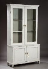 Display cabinet, grey-painted wood, Louis XVI form, c. 1900