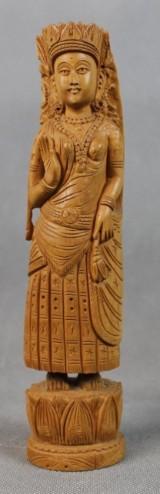Indische Holzschnitzerei von Krishna