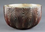 Axel Salto. Stoneware bowl, fluted style