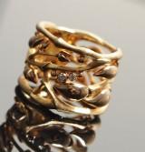 Ole Lynggaard, Golden Forest ring med brillanter