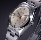 Rolex 'Oysterdate Precision'. Vintage men's watch, steel with pale dial, c. 1967