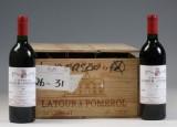 12 fl. Château Latour à Pomerol 1989. (12)