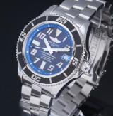 Breitling 'Superocean 42'. Men's watch, steel, with black dial, c. 2014/15