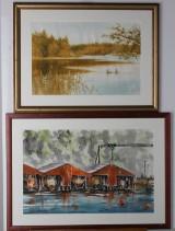 Akvareller, 2 st