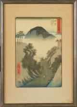 Hiroshige japanxskt träsnitt