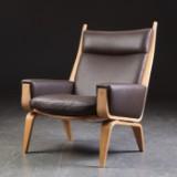 Hans J. Wegner. Sessel, Modell GE501, neu bezogen