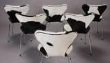 Arne Jacobsen. 7'er stole, nybetrukket koskind (6)