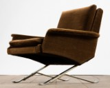 Sessel / Armlehnsessel / Lounge Chair, Stoff / Metall, Frankreich