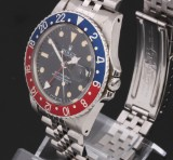 Rolex GMT-Master. Vintage men's watch, steel with Pepsi bezel, 1985