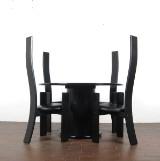 Vico Magistretti, stole model Golem, fremstillet hos Poggi + spisebord (5)