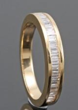18kt baguette-cut diamond wedding ring approx. 0.33ct