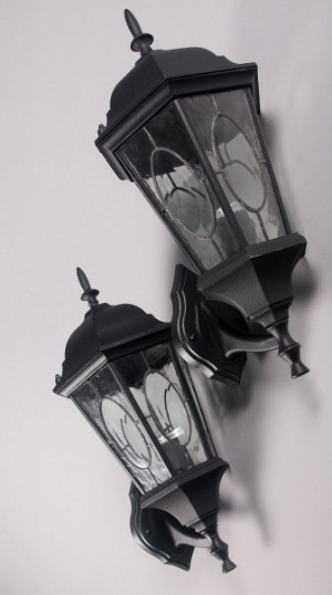 Udendors v u00e6glamper i sort  gronlakeret aluminum (6) Lauritz com