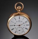 A. Lange & Söhne. Lommeur af 18 kt guld, ca. 1900