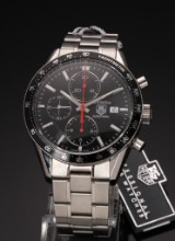 Tag Heuer 'Carrera'. Men's chronograph, steel with date, c. 2008