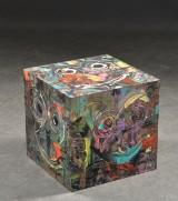 Kent Jensen, Skulptur / bord, akryl 'Art Cube'