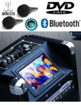 Ny model. Stor luxus trolley digital højttaler m/ DVD skærm og trådløs mikrofon .