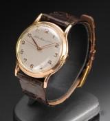 Vintage H. Moser & Cie, herrearmbåndsur i 18 karat rødguld