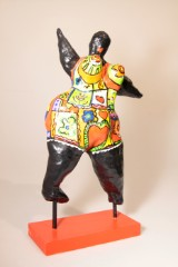 Skulptur im Stil von Niki de Saint-Phalle Polyesterharz