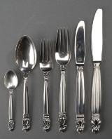 Johan Rohde for Georg Jensen, Acorn, silver flatware (36)