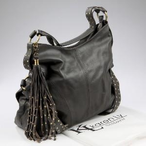 Karen Ly Designer taske. Model Beverly Rivet Sac Grey