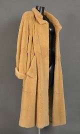 Mink coat, swinger, shorn, beige, size 44/48