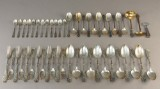 Sølvbestik - Tangmønster mm - 2000 gr (51)