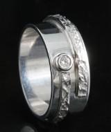 18kt handmade diamond ring approx. 0.07ct