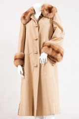 Patron Christian Dior, coat, mink with sable application, size 40/42