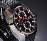 Chopard 'Mille Miglia Alfa Romeo'. Men's chronograph, treated steel, c. 2012/13