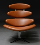 Poul M. Volther. Corona lounge chair from 2017 in 'Elegance' leather